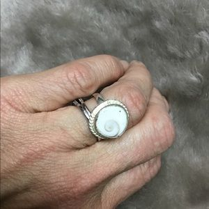 Shell and Silver Ring